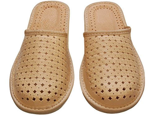 Bawal - Zapatillas de estar por casa de Piel para mujer Beige