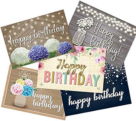 Amazon 50 Happy Birthday Postcards