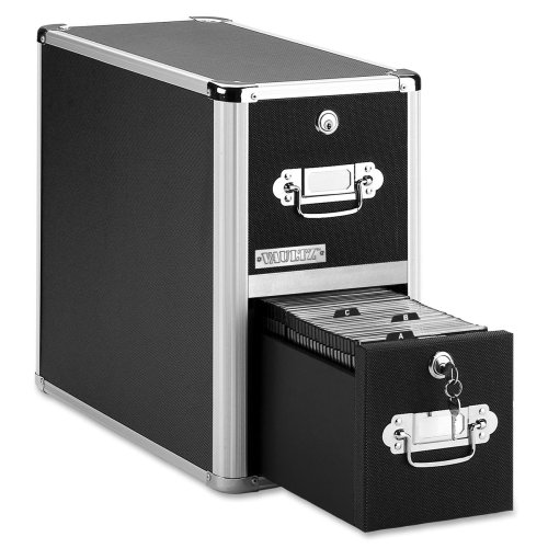 Wholesale CASE of 5 - Ideastream Vaultz 2-Drawer Locking CD Cabinet-Vaultz CD Cabinet, 2-Drawer, 8-1/2x''x15''x14'', 330 Cap by ide (Image #1)