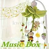 MAZIMARK-Rotary Baby Infant Kids Mobile Crib Bed Toy Clockwork Movement Music Box Bedding