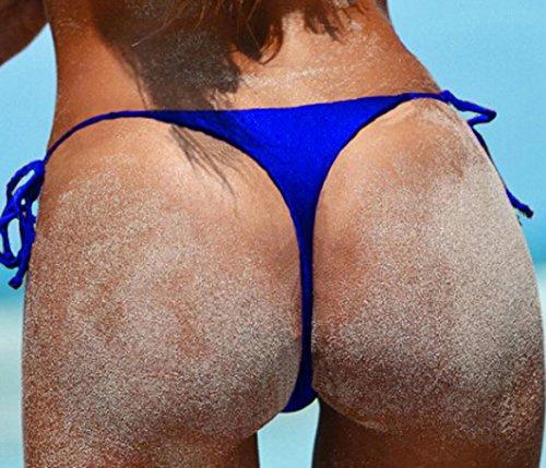 Blu Mare Benda Bottom Costume inferiore Donna Tanga DATO Nuoto Slip Mutande Parte Bagno da Brasiliana Perizoma Bikini wanqBFR