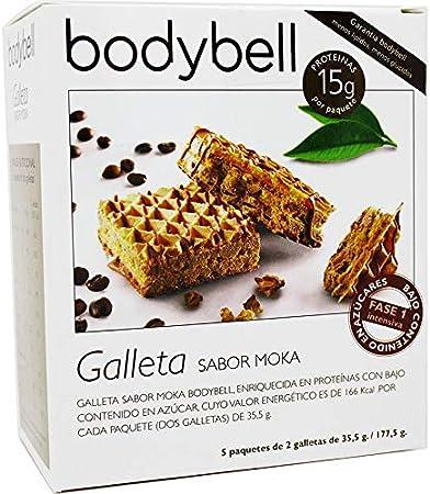 Bodybell Galletas Moka Baja Azucar 10 unidades: Amazon.es ...
