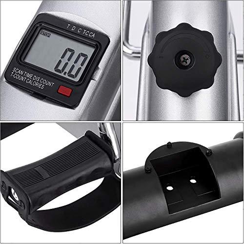 AGM-Mini-Bike-Mini-Exercise-Bike-Leg-Machine-Digital-Under-Desk-Bike-Foot-Cycle-Arm-Leg-Pedal-Machine-with-LCD-Screen-Display-Non-Slip-Mat-Included