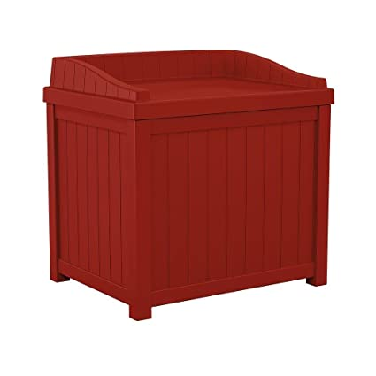 Amazoncom Suncast Resin Storage Seat Deck Box 22 Gallon
