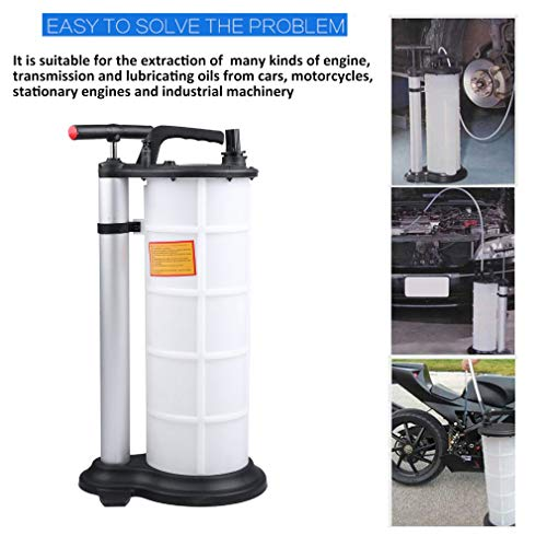 CATUO 9 Liter Fluid Evacuator with 3 Tubes, Universal Heavy Duty Manual Oil Pump Extractor Fluid Transfer for DIY Oil Change - 9L by CATUO (Image #1)
