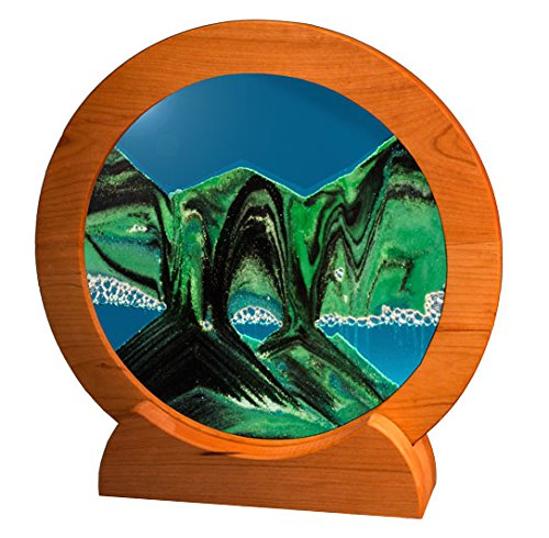 Exotic Sands Rd22 Circle Cherry Frame (Summer Turquoise) Earth Uncommon Gifts. William Tabar is the inventor and patent holder of the original Sand Art Designs dating back to 1985.