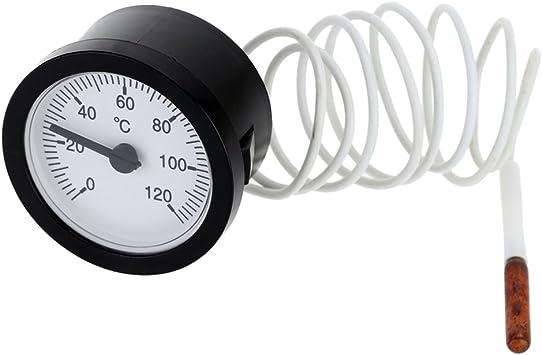 Analog Fernthermometer Einbauthermometer Thermometer 0 120 C Rund Baumarkt