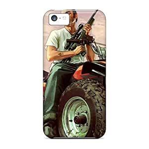 Snap-on Grand Theft Auto V Case Cover Skin Compatible With Iphone 5c