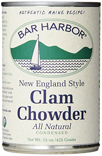 New England Clam Chowder - Bar Harbor Chowder, New England Clam, 15 Ounce (Pack of 6)