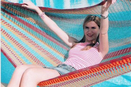 Hammocks Rada The Ultimate Mayan Relaxation Hammock | Perfect for 1 to 3 People | Comfortable, Beautiful, Hand Made in The Yucatan | Outdoor & Indoor Hammock Bed (Multicolor Family Size) - WILDLY COMFORTABLE: 100% fine cotton hammock bed that perfectly fits to the contours of your body and allows your body to breathe, even in hot and humid conditions. RELAX IN STYLE: Beautiful and handmade in the Yucatan using ancient Mayan weaving techniques, you'll get lots of compliments from your friends. IT'S VERSATILE: For napping solo or it can be the perfect family or 2 person hammock. It's a portable hammock that you can use to read a book, take a nap, or daydream in the backyard, at the beach, or use it as a porch or patio hammock. You may even want to use it as a hammock bed to sleep in like the ancient Mayans did! - patio-furniture, patio, hammocks - 51rJk3%2Bdh1L -