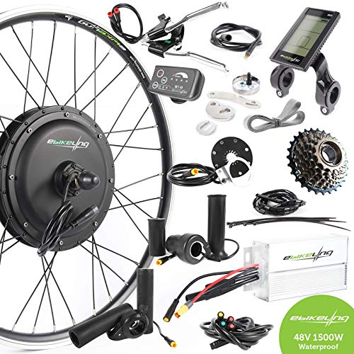"""EBIKELING 48V 1500W 26"""" Direct Drive Rear Waterproof Electric Bicycle Conversion Kit (Rear/LCD/Twist)"""