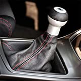 GVDOR Universal Auto Car Gear Shifter Shift Knob Boot Cover PVC Leather Dustproof Handbrake Cover