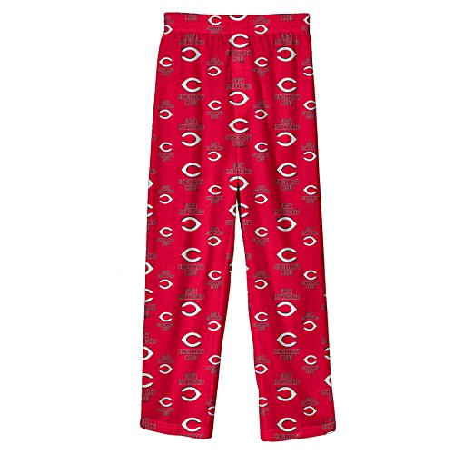 Outerstuff MLB Infant/Toddler Boys' Cincinnati Reds Printed Pant, Red, Medium (3T)