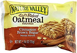 Nature Valley Soft Baked Oatmeal Squares, Cinnamon Brown Sugar, 1.24 oz (Pack of 45)