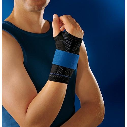 Bauerfeind 11051503070604 Manutrain Wrist Support, Right, Size 4, 6-3/4''-7'' Circumference, Black/Blue by Bauerfeind