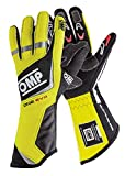 OMP Racing Men's One Evo Gloves Black/Fluorescent Yellow Large