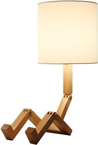 Lámparas de mesa de estilo europeo/lámpara para leer en la cama/Cama madera decorativo cálido moderna simple luces: Amazon.es: Iluminación