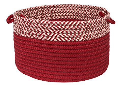 - Houndstooth Dipped Basket Colonial Mills, 24 by 14-Inch, Red