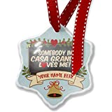 Add Your Own Custom Name, Somebody in Casa Grande Loves me, Arizona Christmas Ornament NEONBLOND