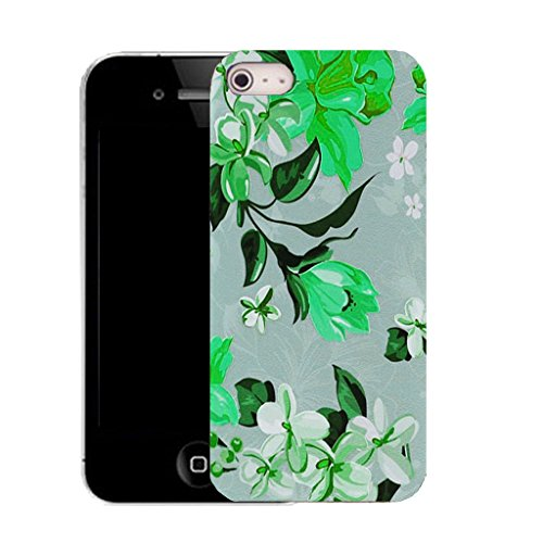 Mobile Case Mate iPhone 5c clip on Silicone Coque couverture case cover Pare-chocs + STYLET - heaping floral pattern (SILICON)