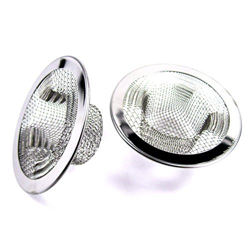 Review 2pcs Metal Sink Strainer