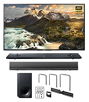 """Sony Z9D 65"""" 4K HDR Ultra-High Definition Android TV w/ HTNT5 Sound Bar & TV Wall Mount"""
