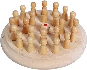Juego de ajedrez de Palo de Memoria de Madera Juego Educativo de Ocio Entre Padres e Hijos BlackSwan Juguete de ajedrez de Memoria