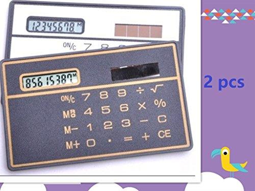 king's store 8 Digits Ultra Thin Slim Mini Credit Card Design Solar Power Pocket Calculator3 pcs