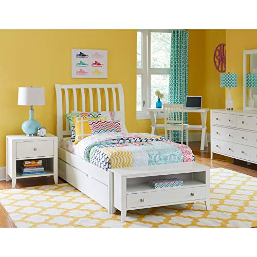 - Hillsdale Kids and Teen Hillsdale Pulse Full Rake Sleigh Bed with Trundle, White