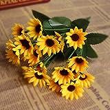 POP Fake Sunflower Artificial Silk Flower Bouquet Home Wedding Floral Decor