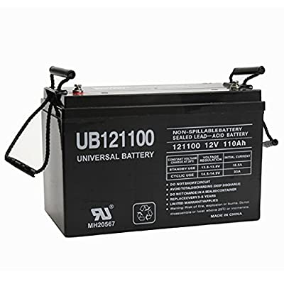 UPG 12V 110Ah AGM Solar Battery UB121100 Replaces Group 31 FAST USA SHIP