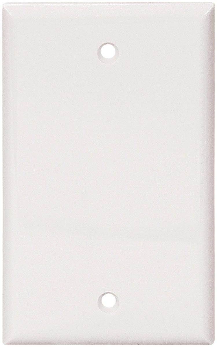 Eaton 5129W-BOX Standard Size Nylon 1-Gang Box Mounted Blank Wallplate, White