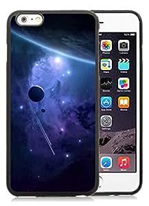 Purple Nebula And Planets Fantasy Mobile Wallpaper Black Cool Photo Custom iPhone 6plus 5.5 Inch TPU Phone Case