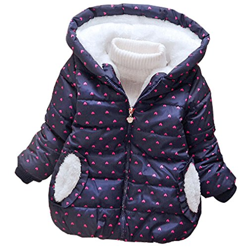 LUKYCILD Baby Girl Princess Coat Winter Hoodie Jacket Coat