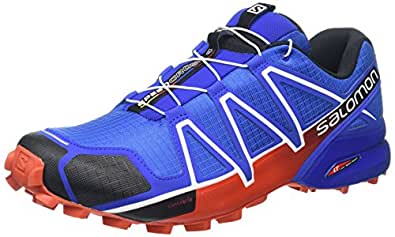 Salomon Speedcross 4, Zapatillas de Running para Asfalto para Hombre, Azul (Blue Yonder /      Black /      Lasa Orange), 40 EU