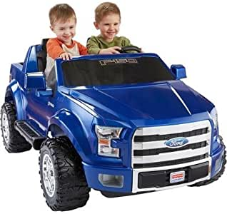 Power Wheels Fisher-Price Ford F-150 12-Volt Battery-Powered Ride-On, Blue
