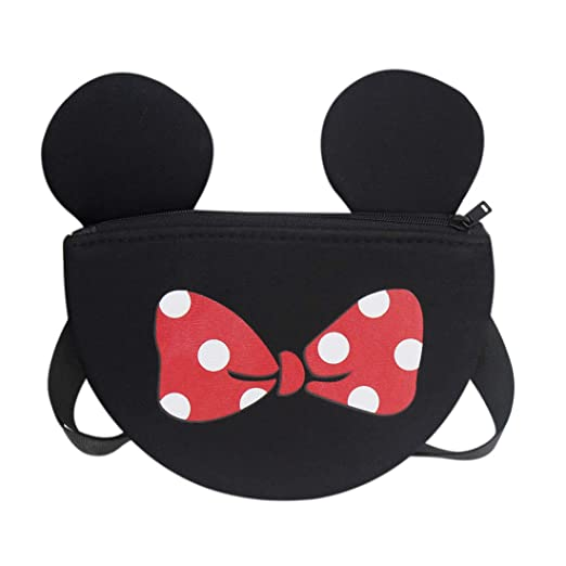 528fe6861967 Image Unavailable. Image not available for. Color  Kids Toddler Purse Cute  Mouse Ear Crossbody Bag Nylon Shoulder ...