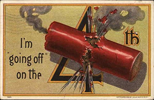 - Picture of a Fire Cracker Exploding 4th of July Original Vintage Postcard