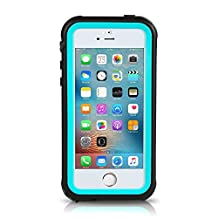 iPhone SE Waterproof Case, Meritcase IP68 Standard Protection Dirt-poof Shockproof Snow-proof and Waterproof Case for iPhone SE/5/5s (Blue)