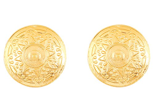 c6612743e Touchstone Indian Bollywood Ethnic Style Carving Work Bahubali Inspired  Designer Jewelry Round Shape Earrings For Women