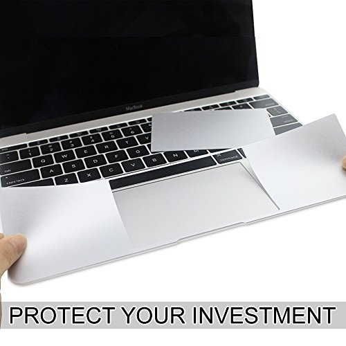 All-inside 13inch Palm Rest Cover with Trackpad Protector Sticker Skin Silver for MacBook Pro 13.3