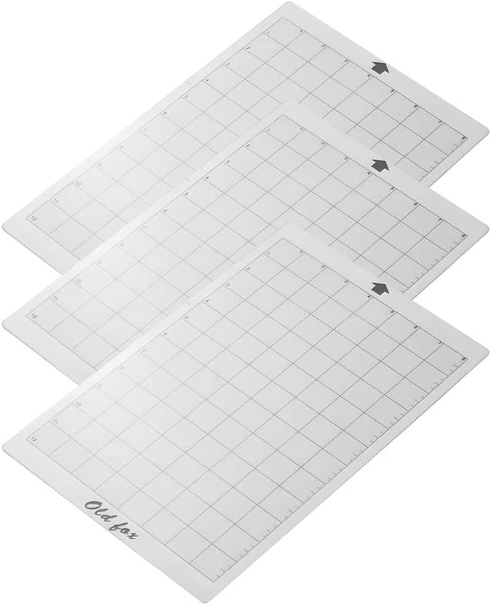 Aibecy OLD FOX Reemplazo Estera de corte Estera adhesiva transparente con rejilla de medición de 8 por 12 pulgadas para Silhouette Cameut Cricut Explore Plotter Machine, 3pcs: Amazon.es: Oficina y papelería