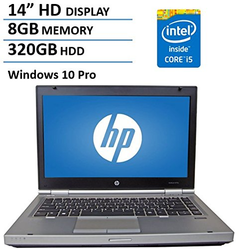 HP 14in HD Elitebook 8470P Intel Dual Core i5 2.6Ghz Processor, 8GB Memory, 320GB HDD, DVD, VGA, RJ45, Windows 10 Professional -