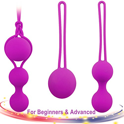 Adore Me Kegel Weight Balls for Beginners & Advanced - Doctor Recommended for Bladder Control & Pelvic Floor Exercises - Premium Silicone Kegel Excercise Products for Tightening (Set of 3 )