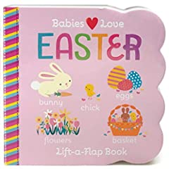 Introduce your baby or toddler to classic Easter traditions like hunting for eggs with this adorable lift-a-flap board book. Simple sentences reinforce future language structure, and grasping and lifting the sturdy flaps helps develop fine mo...
