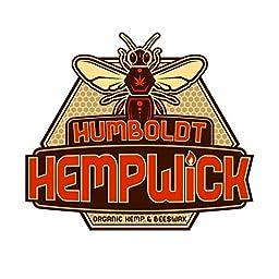 Humboldt Organic Hemp Wick 100 Feet + Glass Hemp Wick Holder Dispenser