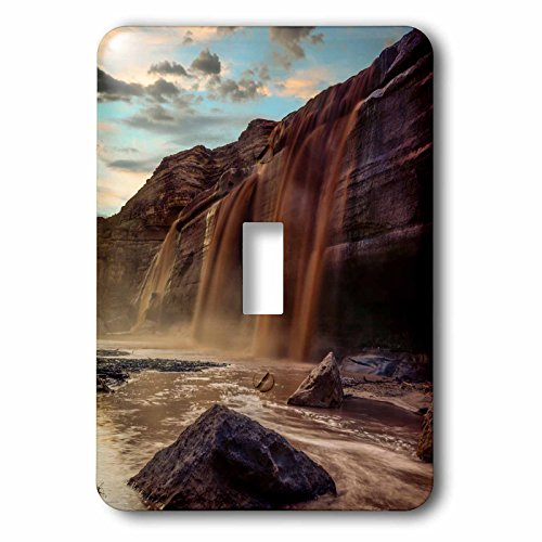 3dRose Danita Delimont - Waterfalls - Little Colorado River in Arizona after a storm - Light Switch Covers - single toggle switch - Flagstaff Outlet
