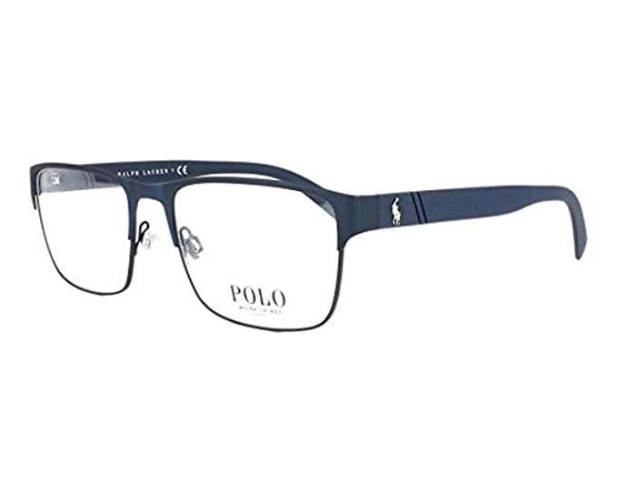 bd9367c7067 Image Unavailable. Image not available for. Color  Polo Men s PH1175  Eyeglasses Matte Navy Blue 56mm