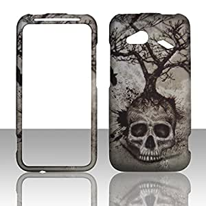 2D Tree Skull HTC Droid Incredible 4G LTE 6410 Verizon Case Cover Phone Snap on Cover Case Rubberized Frosted Matte Surface Hard Shells