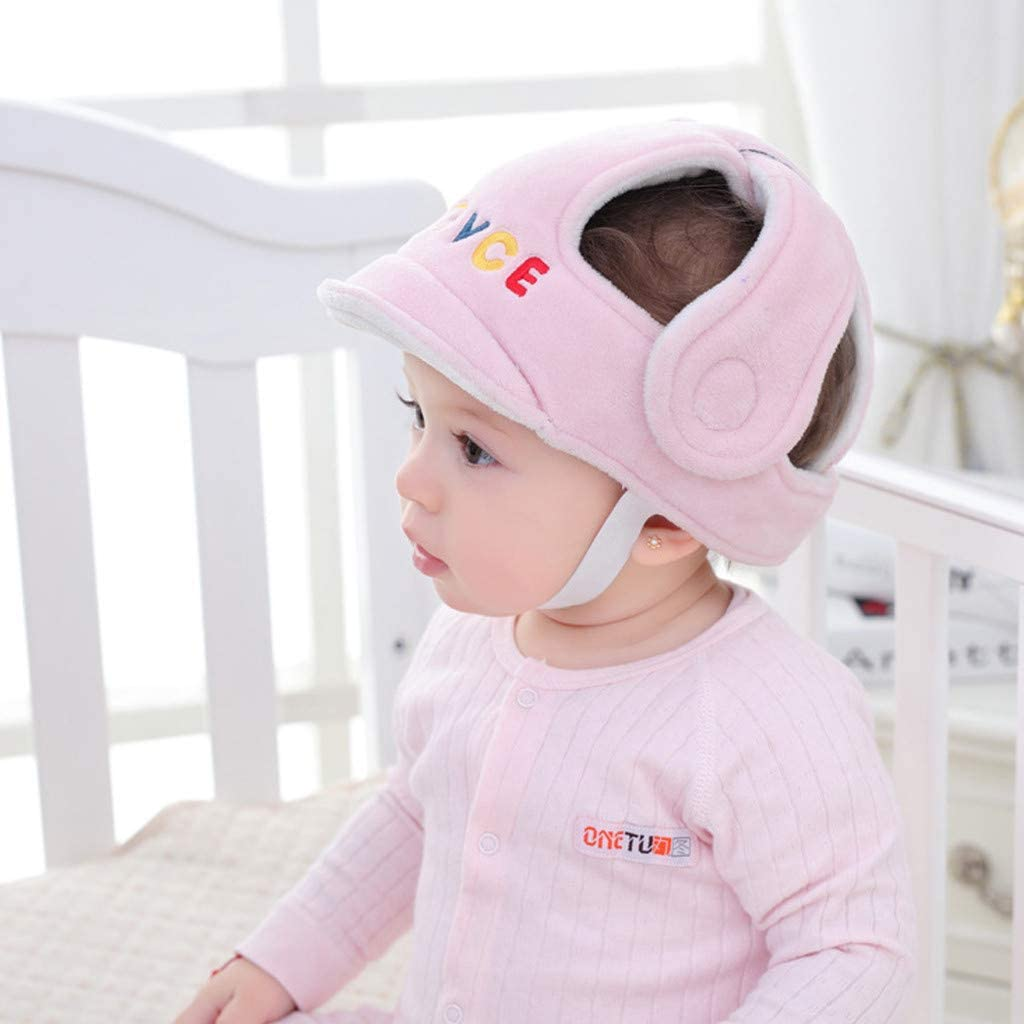 INFILM Baby Safety Helmet for Babies Learning to Crawl Walk Infant Toddler Children Anti-Collision Head Protective Hat Adjustable Safety Protective Harnesses Hat
